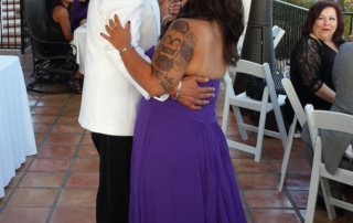Fun San Diego wedding, Louis and Jose dancing
