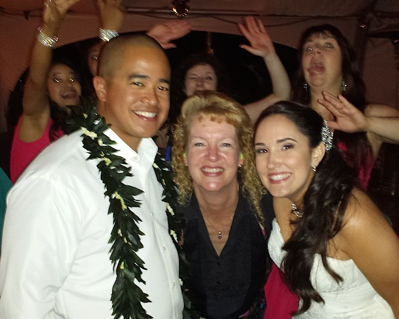 San Diego DJ Party Pam with wedding guests