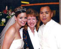 Wedding couple with San Diego DJ Party Pam
