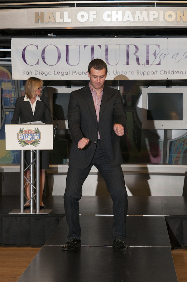 Lawyer cutting loose at Couture for a Cause