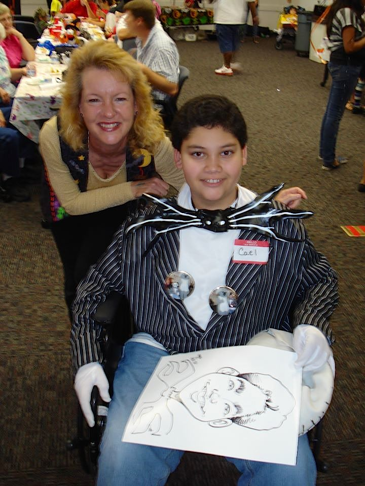 DJ Party Pam with Cael at the Make a Wish party