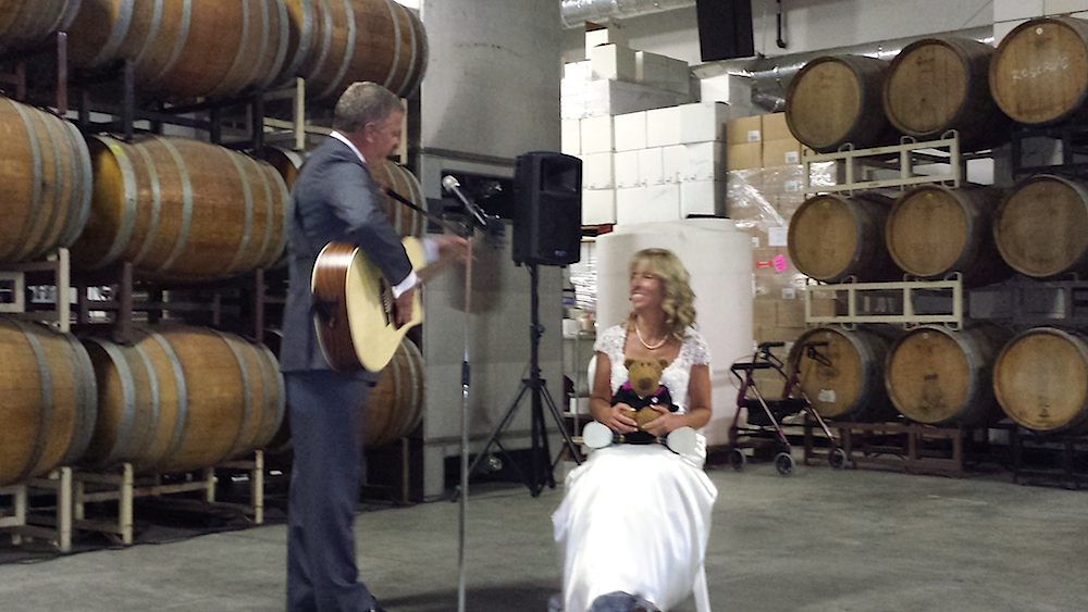 Steve's song for his wedding at the winery