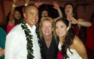Pala Mesa couple with San Diego Wedding DJ