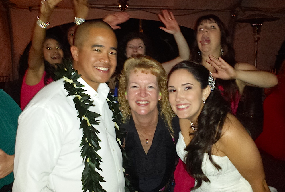 Pala Mesa couple with San Diego Wedding DJ