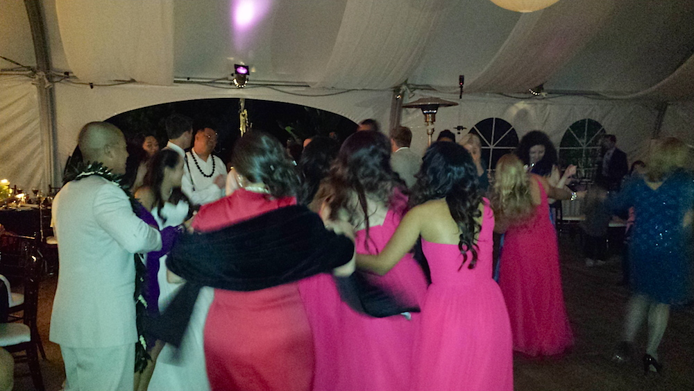 Dancing at wedding with DJ